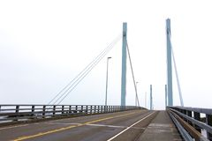The John O`Connell bridge in Sitka, Alaska. The John O`Connell cable-stayed bridge connecting the town of Sitka with the airport and the Coast Guard Station Stock Photos