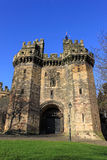 John O'Gaunt's Gateway, Lancaster Castle. View of John O'Gaunt's Gateway which is part of Lancaster Castle. The gateway had been the entrance to Lancaster Prison Stock Photography