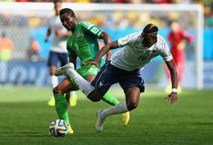 John Obi Mikel and Paul Pogba Coupe du monde 2014 Royalty Free Stock Photography