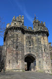 John OGaunt Gateway Lancaster Castle Lancashire. Which is now open to the public as a tourist attraction since the closure of the prison allowed use of this Royalty Free Stock Photos
