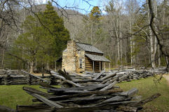 John Oliver Cabin. Historic John Oliver Cabin in Cades Cove, TN Royalty Free Stock Photos