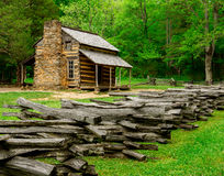 John Oliver Cabin Great Smoky Mountain National Park. Cades Cove royalty free stock photo