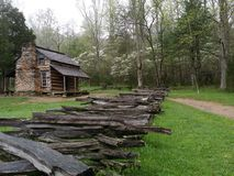 John Oliver Cabin. In Cades Cove Tennessee Stock Image