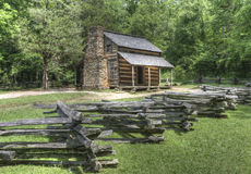 John Oliver Log Cabin, parc national de Great Smoky Mountains Photographie stock libre de droits