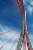 John Paul II bridge in Gdansk. Modern suspended bridge in Gdansk royalty free stock images