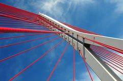 John Paul II bridge in Gdansk. Modern suspended bridge in Gdansk stock photo