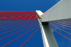John Paul II bridge in Gdansk. Modern suspended bridge in Gdansk royalty free stock photography