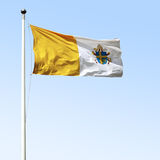 John Paul II Flag. Specific to John Paul II Shield onto Vatican flag Royalty Free Stock Image