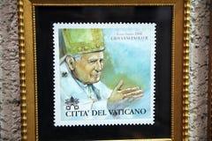 John-paul II stamp Royalty Free Stock Images