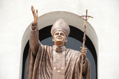 John paul II statue in Christian Church. Royalty Free Stock Images