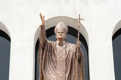 John paul II statue in Christian Church. Royalty Free Stock Image