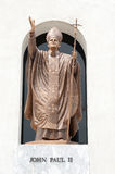 John paul II statue in Christian Church. Royalty Free Stock Photography