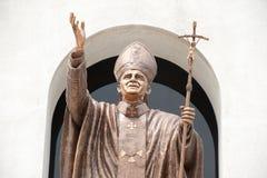 John Paul Ii staty i kristenkyrka. Royaltyfria Bilder