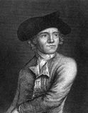 John Paul Jones. (1747-1792) on engraving from 1859.  Scottish sailor and United States naval fighter in the American Revolution. Engraved by unknown artist and Royalty Free Stock Image