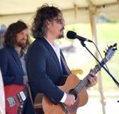 John Paul White. Singer/Songwriter John Paul White performing at an outdoor music festival Stock Images