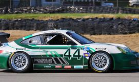 John Potter races the Porsche Royalty Free Stock Images