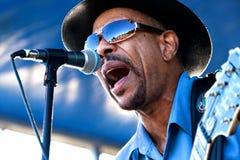 John Primer at Marquette Area Blues Festival royalty free stock photo