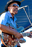 John Primer at Marquette Area Blues Festival royalty free stock image