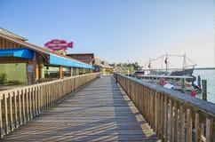 John przepustki Boardwalk i wioska fotografia stock