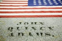 John Quincy Adams坟茔  免版税图库摄影
