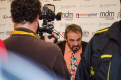 John Rhys-Davies at East European Comic Con. John Rhys-Davies interview at East European Comic con, march 2013 at Bucharest Romania Stock Image