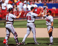 John Rocker e Javy Lopez, Atlanta Braves Fotografia Stock