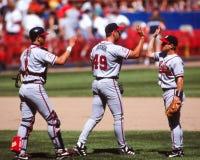 John Rocker und Javy Lopez, Atlanta Braves Stockfotografie