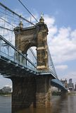 John A. Roebling Bridge royalty-vrije stock foto