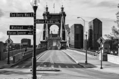 John A Roebling Bridge stock photos