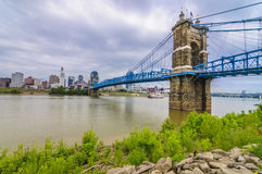John A. Roebling Suspension Bridge Immagine Stock