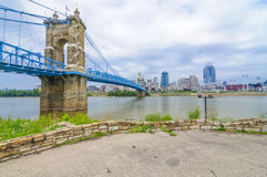 John A. Roebling Suspension Bridge royalty-vrije stock foto