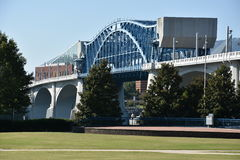John Ross Bridge on Market Street in Chattanooga, Tennessee Royalty Free Stock Photo