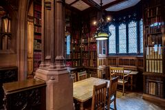 The John Rylands Library Study Area stock photo