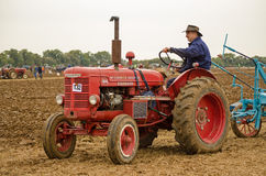 John Saunders driving vintage tractor Royalty Free Stock Images
