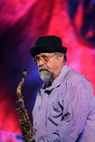 John Scofield and Joe Lovano Quartet playing live music at The Cracow Jazz All Souls' Day Festival Royalty Free Stock Photos