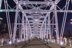 John Seigenthaler Pedestrian Bridge fotografia de stock