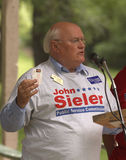 John Sieler speaks at Tea Party Stock Images