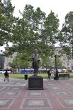 Boston Ma, 30th June: John Singleton Copley Statue in Copley Square from Boston in Massachusettes State of USA Stock Images