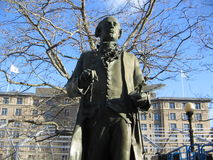 John Singleton Copley Statue, place de Copley, Boston, le Massachusetts, Etats-Unis Images stock