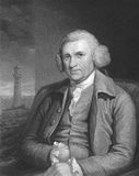 John Smeaton. (1724-1792) on engraving from the 1800s. The father of civil engineering, responsible for the design of bridges, canals, harbours and lighthouses Royalty Free Stock Images
