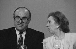 John Smith & Margret Beckett. UK Brighton -- Sep 1993 -- Scottish Labour MP John Smith with Margaret Beckett at the 1993 Labour Party Conference in Brighton Stock Photos