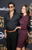 John Stamos and Caitlin McHugh. At the Los Angeles premiere of `Christopher Robin` held at the Walt Disney Studios in Burbank, USA on July 30, 2018 stock photography