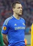 John Terry of Chelsea London. Chelsea's football player, John Terry, posing before the Europa League football game between Steaua Bucharest and Chelsea Stock Image