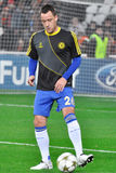 John Terry on the field with the ball Stock Images