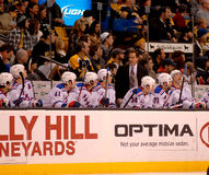 John Tortorella and the NY Rangers bench Stock Photography