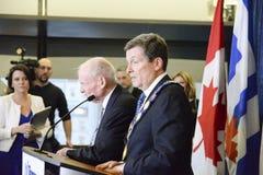 John Tory επίσημα που μέσα ως 65ος δήμαρχος του Τορόντου στην αίθουσα πόλεων, Τορόντο, Καναδάς Στοκ φωτογραφίες με δικαίωμα ελεύθερης χρήσης