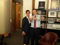John Tory & Chaker Khazaal Selfie Fotografia Stock Libera da Diritti