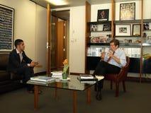 John Tory et réunion de Chaker Khazaal Photo stock