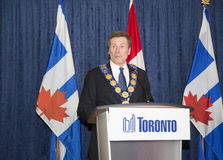 John Tory officially sworning in as Toronto's 65th mayor in City hall, Toronto, Canada. Stock Image