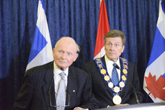 John Tory officially sworning in as Toronto's 65th mayor in City hall, Toronto, Canada. Royalty Free Stock Photos
